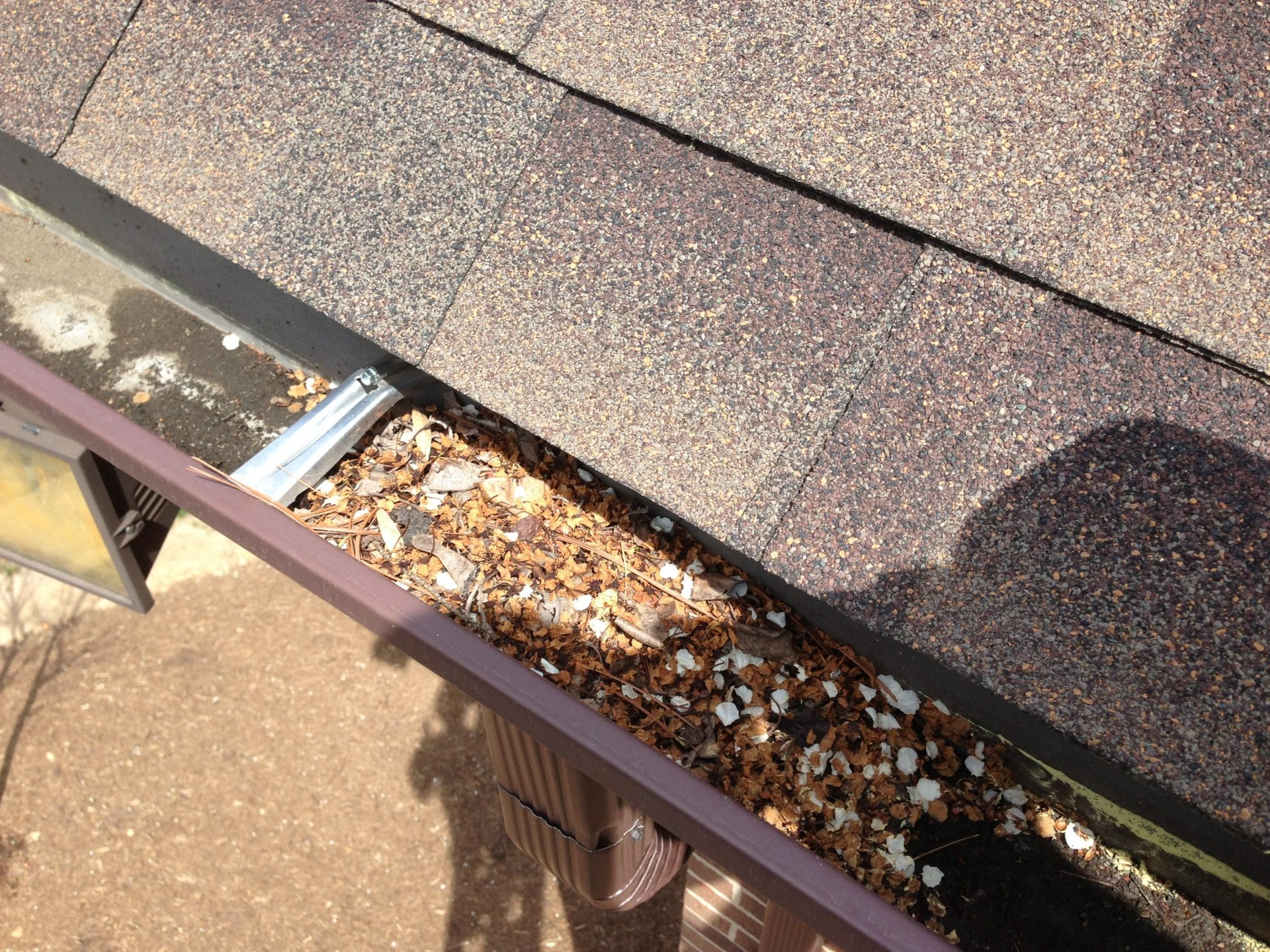 Clogged Downspout Affordable Quality Roofing Virginia